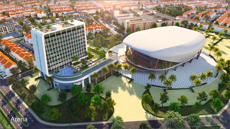 Khách sạn mang thương hiệu Novotel sẽ được xây dựng tại phân khu River Park 2 (The Valencia) thuộc Đô thị sinh thái thông minh Aqua City. Ảnh NVL