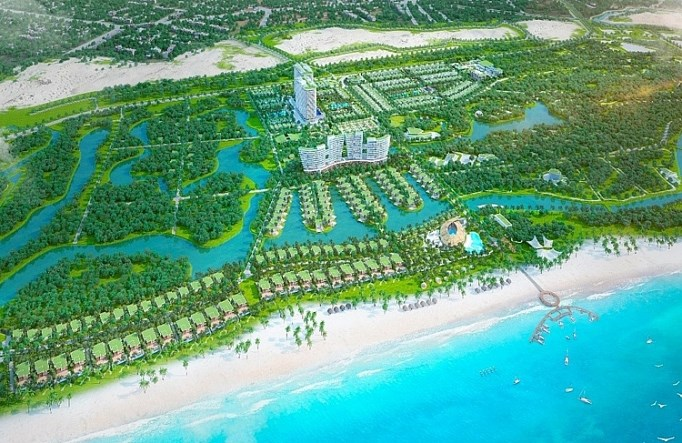Phối cảnh tổng thể Khu nghỉ dưỡng phức hợp Lagoona Bình Châu. Ảnh minh họa