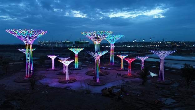 Công viên Ánh sáng dự kiến sẽ khai trương vào tháng 9. Ảnh VIN