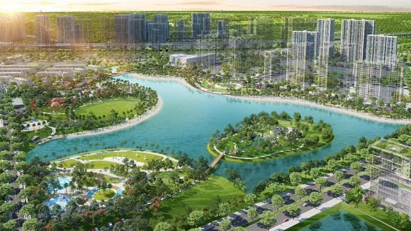 Phối cảnh đại đô thị Vinhomes Grand Park (Q9, TP. Hồ Chí Minh) của Vingroup. Ảnh minh họa