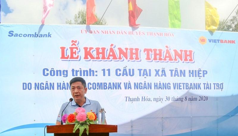 Ông Lê Huy Dũng - quyền Tổng giám đốc Vietbank phát biểu tại buổi lễ. Ảnh Vietbank
