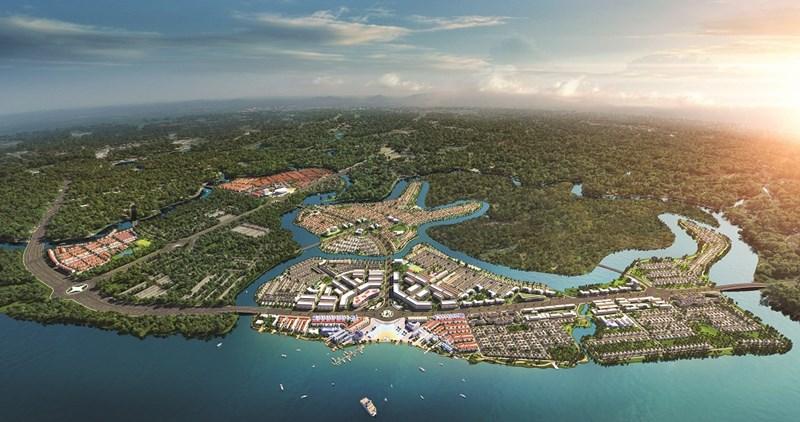 Đô thị sinh thái thông minh Aqua City với quy mô gần 1000ha cùng chuỗi tiện ích đẳng cấp, hoàn chỉnh. Ảnh NVL