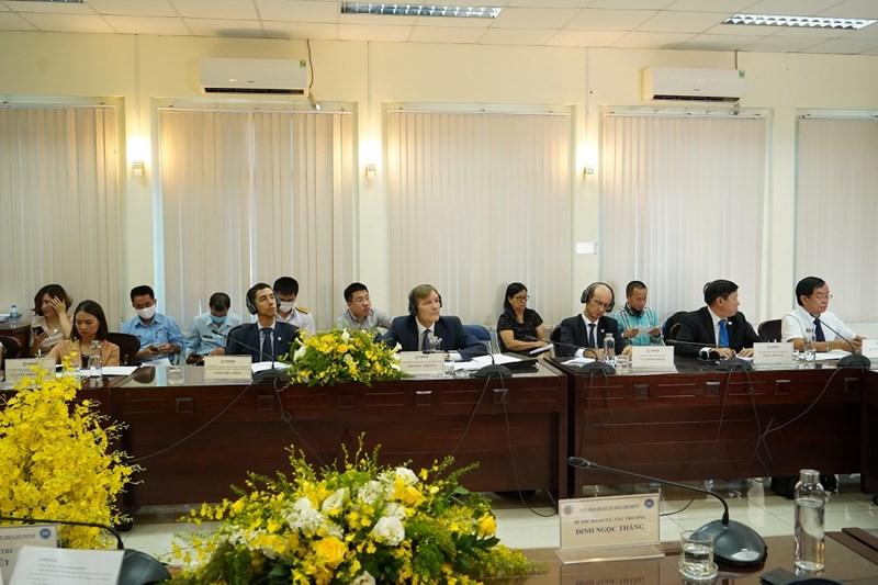 Cơ quan Phát triển Quốc tế Hoa Kỳ (USAID) tại buổi làm việc. Ảnh HT