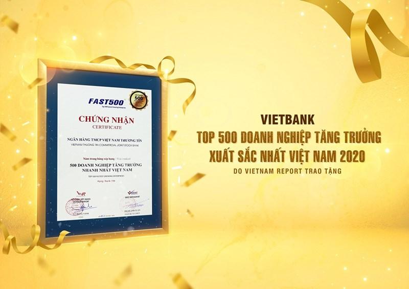 Bảng xếp hạng FAST500 được đánh giá dựa trên tiêu chí tăng trưởng kép (CAGR) về doanh thu và hiệu quả kinh doanh của doanh nghiệp trong giai đoạn 4 năm gần nhất. Ảnh Vietbank