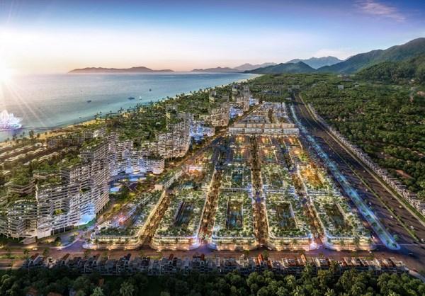 Phối cảnh phân khu nhà phố thương mại biển Thanh Long Ba. Ảnh KQ