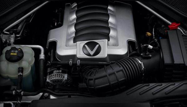 Động cơ V8 trên mẫu xe President kết hợp cùng hộp số tự động 8 cấp giúp xe có khả năng tăng tốc 0-100 km/h trong 6,8 giây. Ảnh VIC