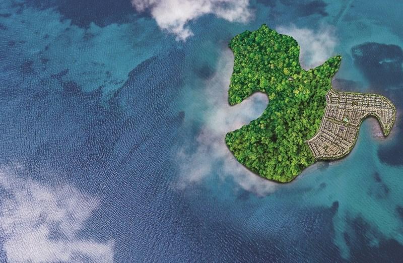 Phân kỳ Phoenix South tọa lạc trên hòn đảo tự nhiên nguyên sinh mang hình dáng chim Phượng Hoàng. Ảnh Novaland