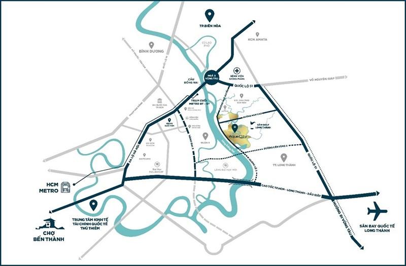 Từ Phoenix South cư dân dễ dàng kết nối về trung tâm TP. Hồ Chí Minh, Cảng hàng không quốc tế Long Thành hay các khu vực kinh tế du lịch trọng điểm phía Nam. Ảnh Novaland