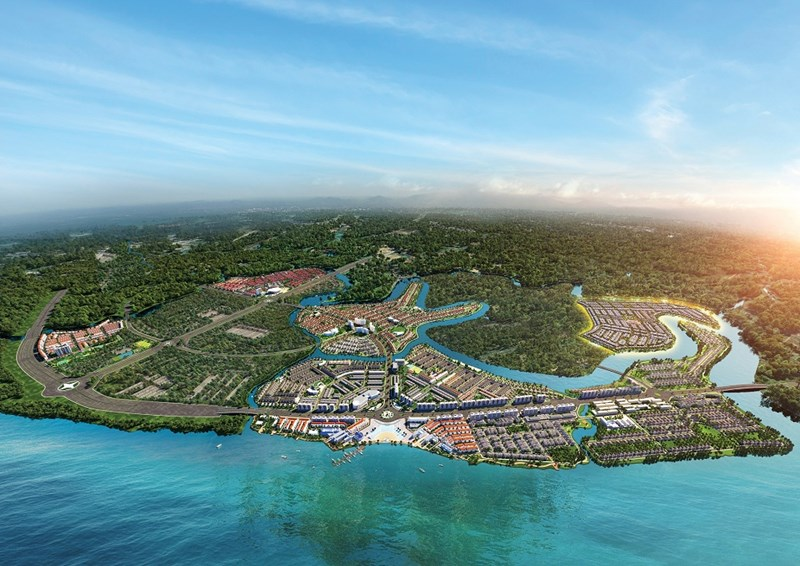 Đô thị đảo Phượng Hoàng thuộc Aqua City được đánh giá cao nhờ vị trí kết nối chiến lược khi tọa lạc tại tâm điểm kết nối liên vùng phía Nam. Ảnh Novaland