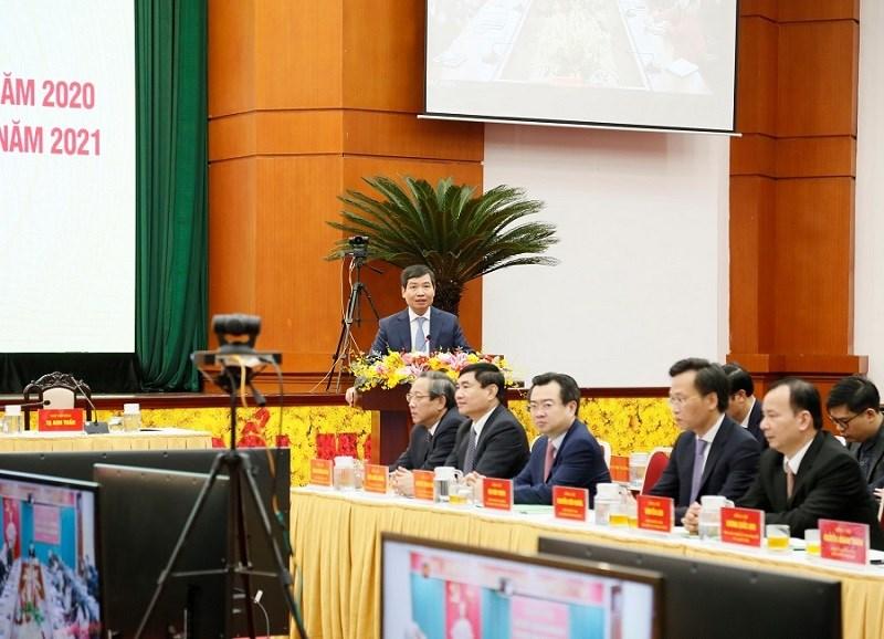 Thứ trưởng Bộ Tài chính Tạ Anh Tuấn phát biểu khai mạc Hội nghị