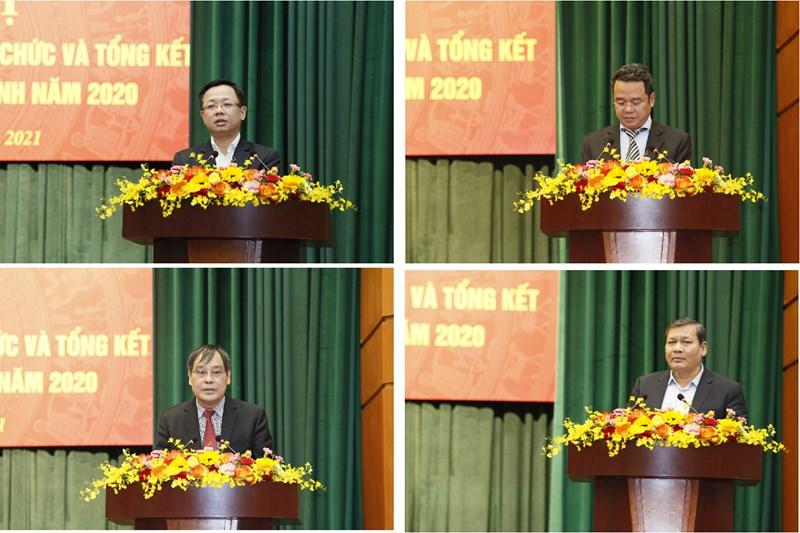 Các đơn vị phát biểu tại Hội nghị
