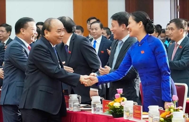 Thủ tướng Chính phủ Nguyễn Xuân Phúc dự Đại hội thi đua yêu nước ngành Tài chính lần thứ V,  giai đoạn 2020-2025 (ngày 31/10/2020)