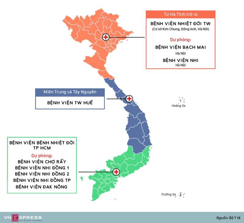 [Infographics] Bệnh nhân nghi nhiễm nCov khám chữa ở đâu? - Ảnh 1