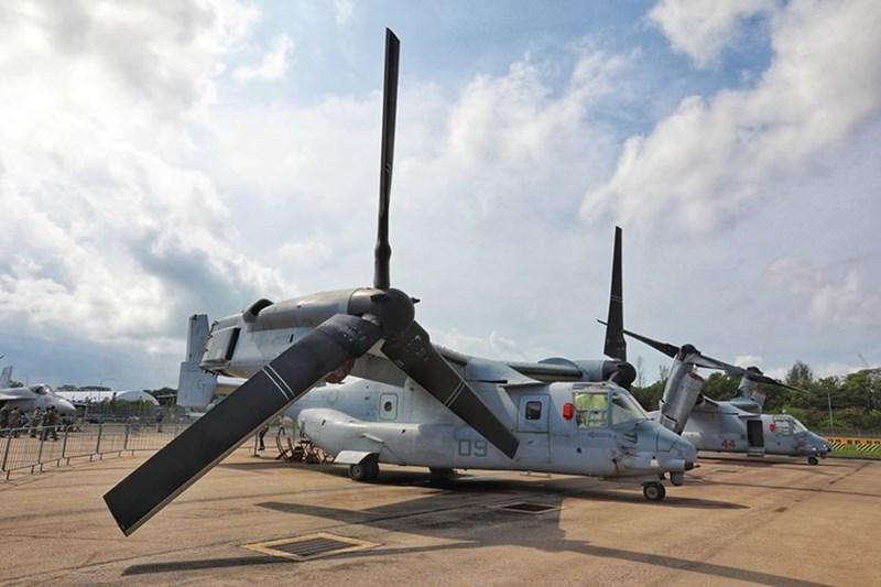 Máy bay V-22 Osprey của Thủy quân lục chiến Mỹ.