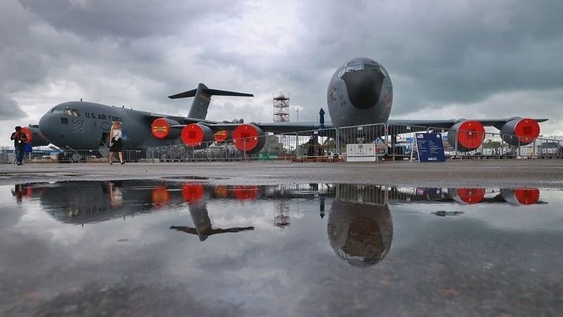 Máy bay vận tải C-17 Globemaster III của Không quân Mỹ.