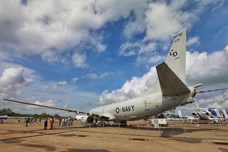 Máy bay săn ngầm P8 Poseidon của Không quân Mỹ.