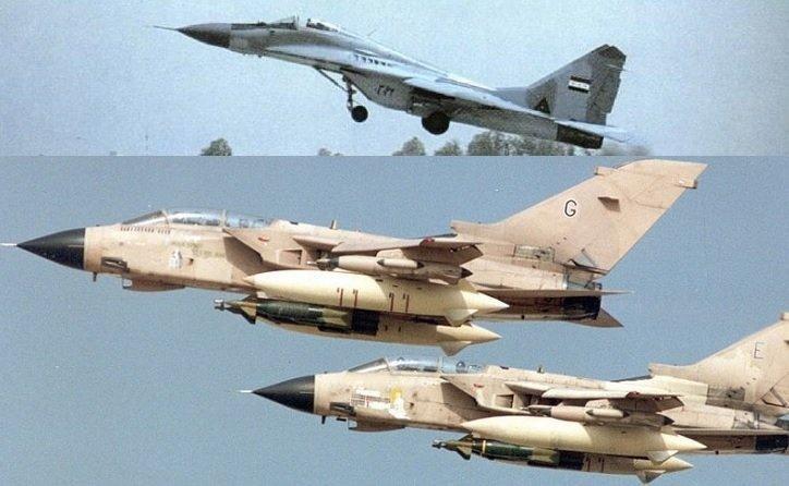 Trận không chiến thứ tư diễn ra khi một cặp tiêm kích F-15 nhận được cảnh báo từ máy bay E-3 AWACS rằng 2 chiếc MiG-29A đang ở gần đó và lao vào truy đuổi. Tuy nhiên, biên đội MiG của Iraq đã quay lại và giao tranh với Eagle.