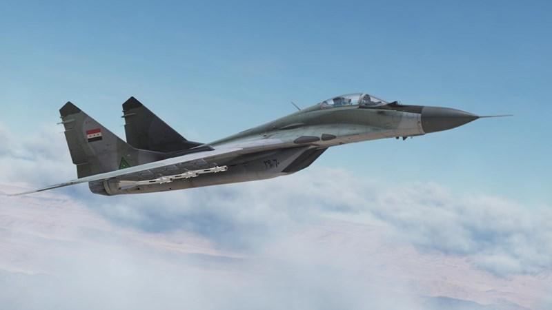 Hai cặp máy bay bay thẳng về phía nhau. Những chiếc MiG sở hữu tên lửa tầm xa và khả năng cơ động cao hơn, trong khi F-15 Eagle có hệ thống cảm biến, tải trọng chiến đấu mạnh hơn và được hỗ trợ bởi AWACS.