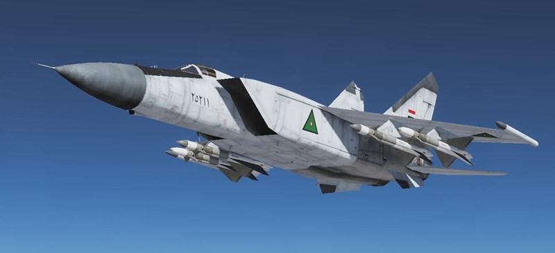 MiG-25PD mang tên lửa không đối không R-40, có đầu đạn nặng 100 kg và tầm bắn lớn hơn so với các đối thủ Mỹ. Một chiếc F/A-18 bị bắn rơi, Trung úy phi công Scott Spiker thiệt mạng ngay lập tức.