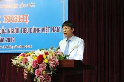 Ông Trần Việt Hà - Phó Chủ tịch UBND quận Cầu Giấy (Ảnh: Nguyễn Trường).