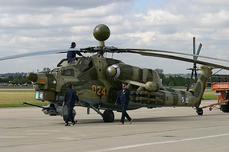 Được biết khẩu pháo trên trực thăng Mi-28 chính là một biến thể của pháo 2A42 nổi tiếng do Liên Xô phát triển