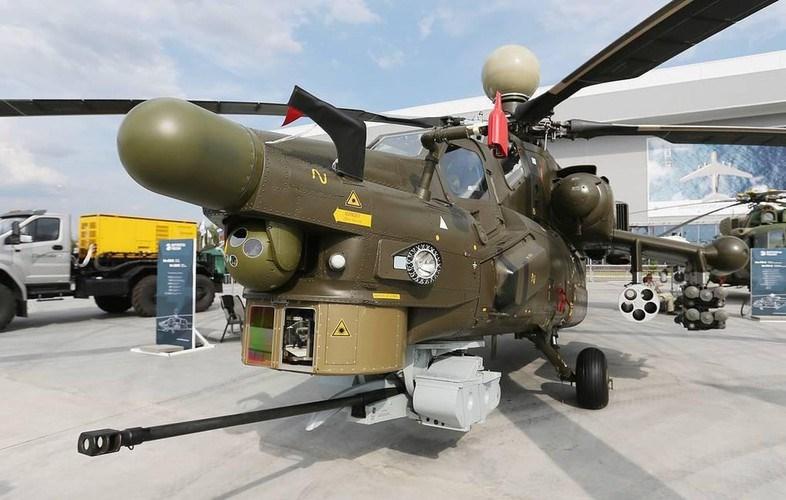 Pháo 2A42 được lắp vào một bệ xoay đặc biệt gắn dưới mũi của Mi-28 để tăng tính cơ động nhắm bắn mục tiêu