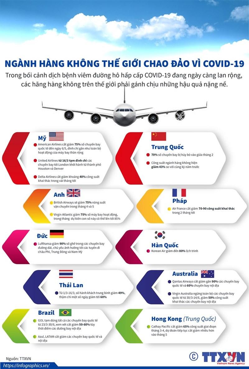 [Infographics] Ngành hàng không thế giới chao đảo vì COVID-19 - Ảnh 1