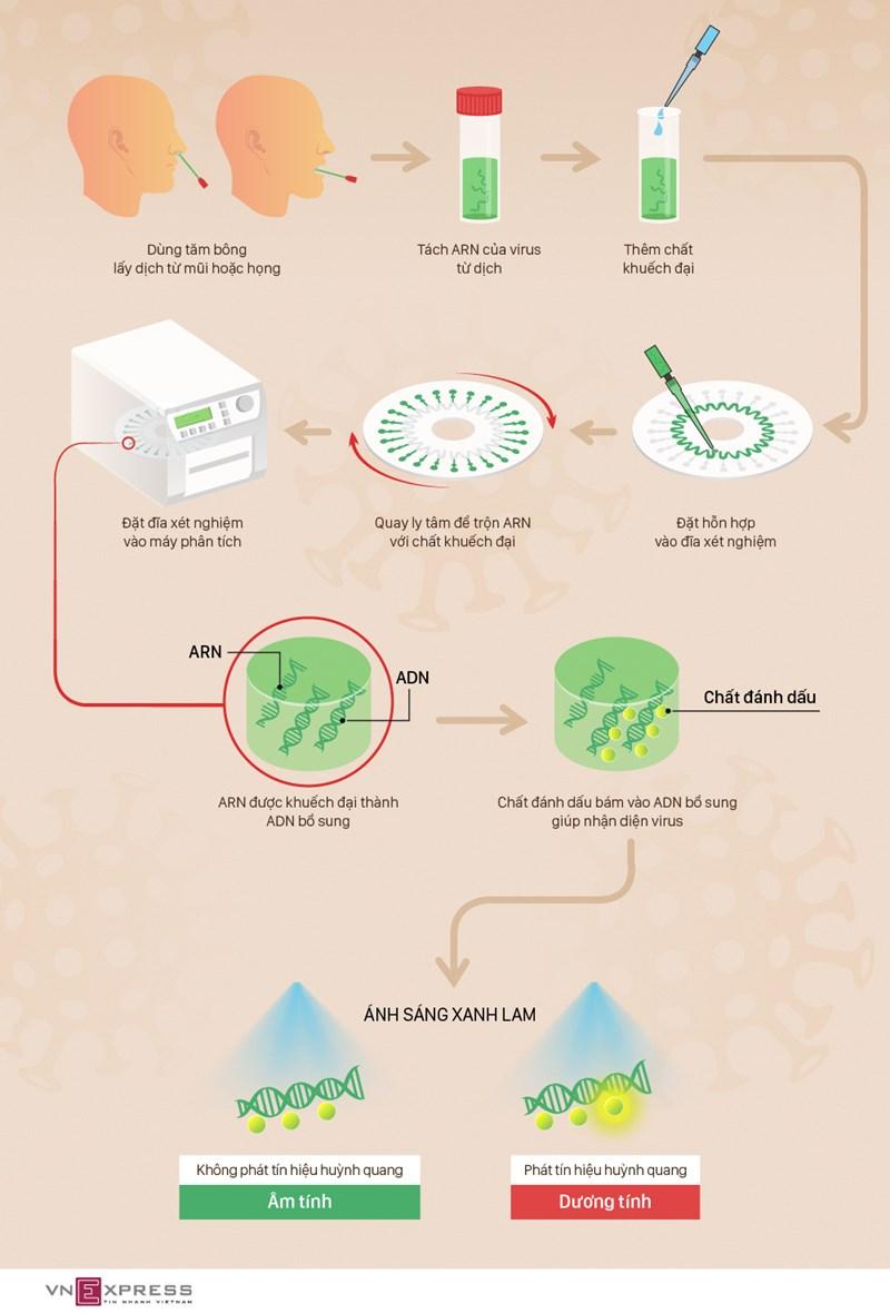 [Infographics] Các bước xét nghiệm nhanh nCoV  - Ảnh 1