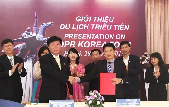 Ký kết hợp tác giữa Công ty du lịch Quốc tế Triều Tiên và Hiệp hội du lịch Việt Nam