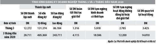 Số liệu đăng ký doanh nghiệp và thu hút đầu tư trực tiếp nước ngoài vào Việt Nam tháng 3/2020 - Ảnh 1
