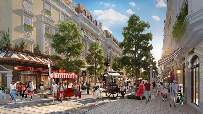 Élyseé hứa hẹn trở thành dãy phố đi bộ đẹp nhất Hạ Long với các cửa hàng thời trang lộng lẫy, chuỗi dịch vụ sôi động