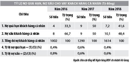 Vấn đề quản lý rủi ro tín dụng khách hàng cá nhân tại BIDV chi nhánh Hà Giang - Ảnh 1