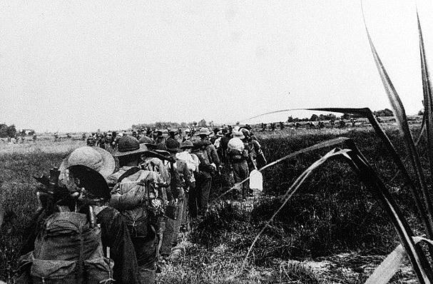 Trung đoàn 201 hành quân qua vùng Đồng Tháp Mười