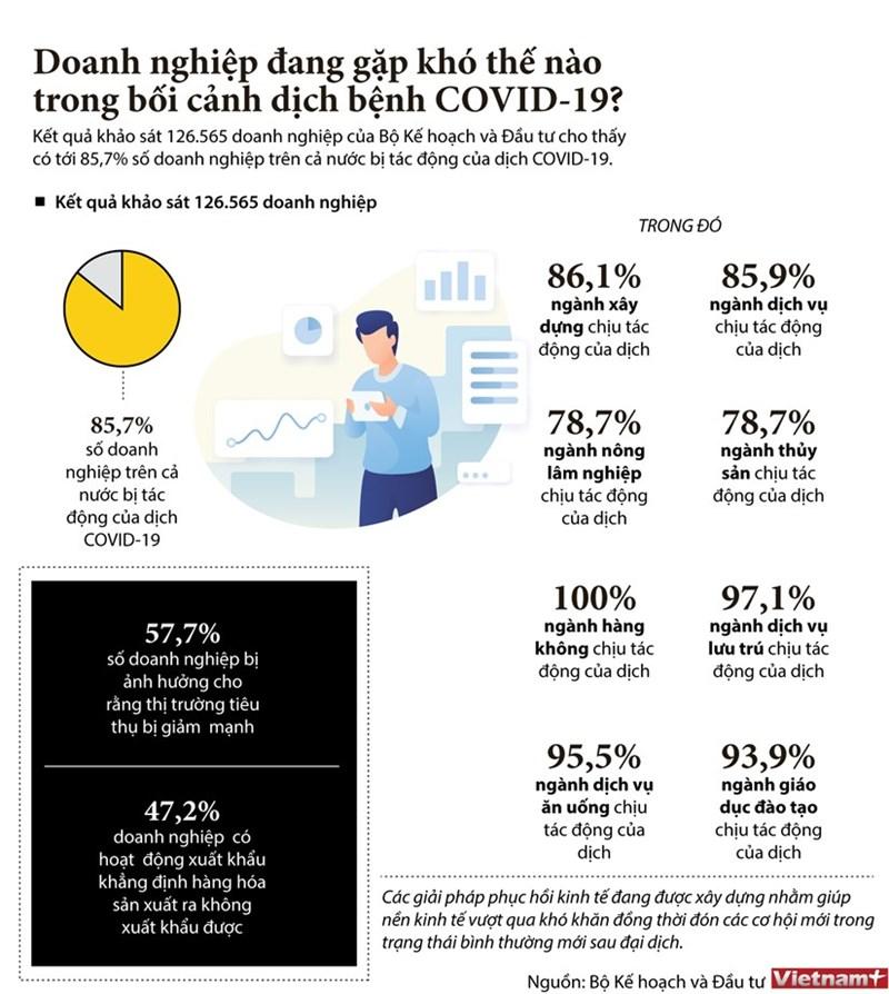 [Infographics] Doanh nghiệp đang gặp khó thế nào trong bối cảnh dịch bệnh COVID-19? - Ảnh 1