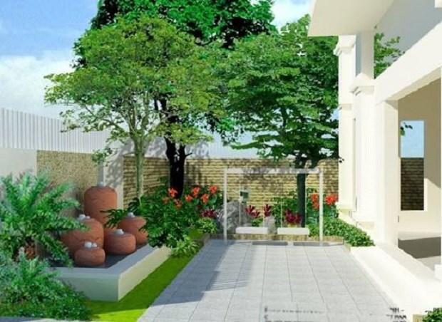 Trồng cây xanh bên ngoài và bên trong là cách hữu hiệu nhất giúp không khí mát mẻ trong ngôi nhà.