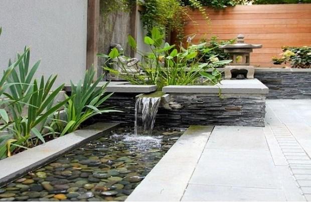 Một hồ nước nhỏ trước nhà cũng đem đến hiệu quả bất ngờ trong mùa Hè.