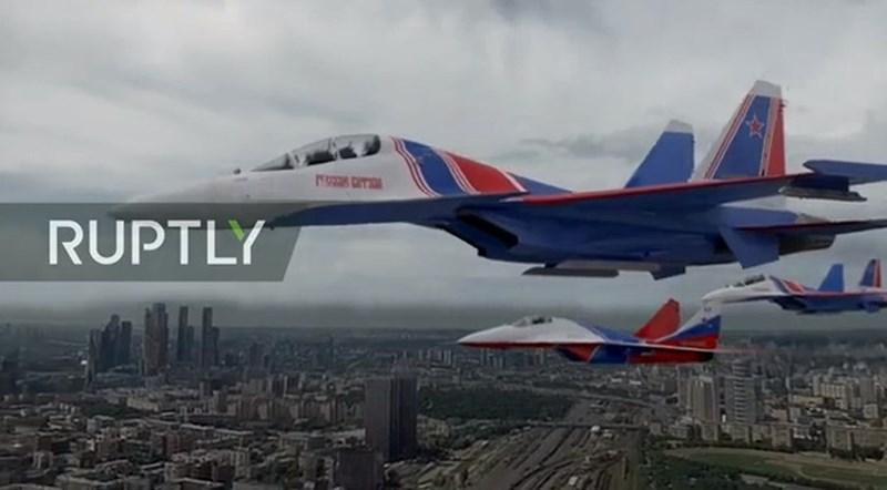 Máy bay chiến đấu đa năng Su-30SM. Hiện Nga đang có gần 200 chiếc tiêm kích đa năng này trong biên chế.