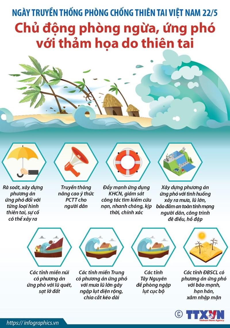 [Infographics] Chủ động phòng ngừa, ứng phó với thiên tai - Ảnh 1