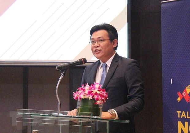 Ông Faizal Izany Mastor, Tham tán Thương mại Malaysia tại Tp. Hồ Chí Minh phát biểu tại hội thảo. (Ảnh: Xuân Anh/TTXVN)