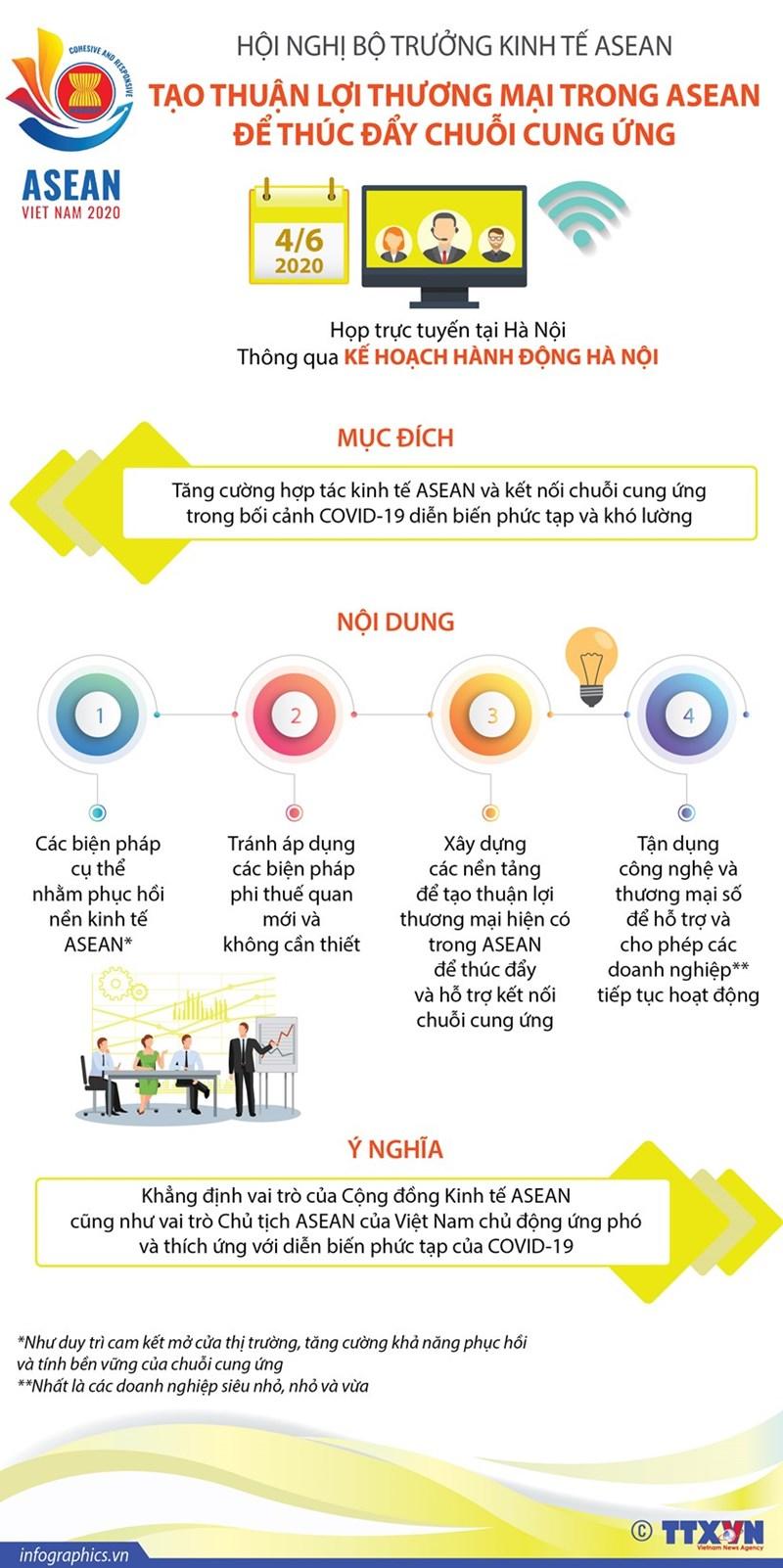 [Infographics] Hội nghị Bộ trưởng kinh tế ASEAN: Thông qua Kế hoạch hành động Hà Nội - Ảnh 1