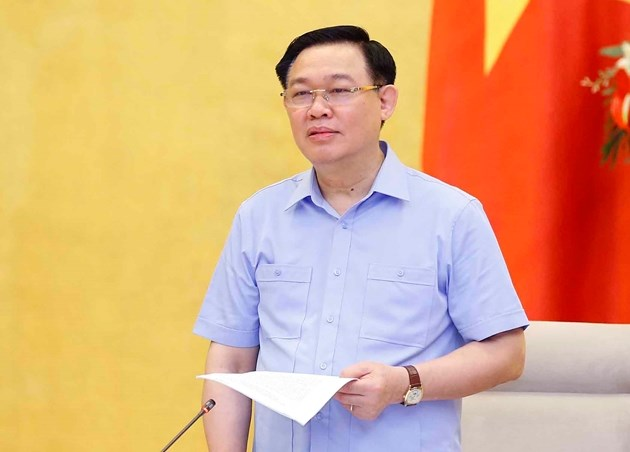 Chủ tịch Quốc hội Vương Đình Huệ. Ảnh: Đ.X