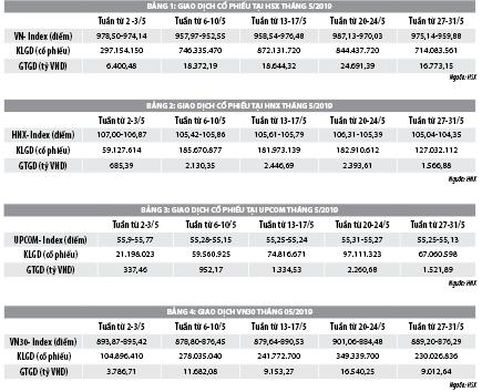 Số liệu thị trường chứng khoán tháng 5/2019 - Ảnh 1