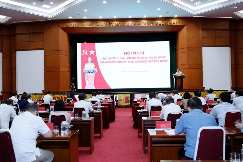 Toàn cảnh Hội nghị sơ kết công tác 06 tháng đầu năm, triển khai nhiệm vụ 06 tháng cuối năm 2021 của ngành Tài chính