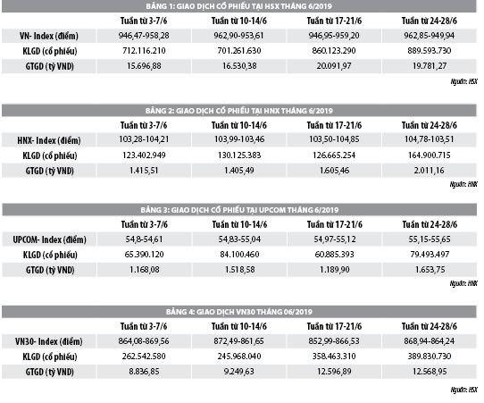 Số liệu thị trường chứng khoán trong 6 tháng đầu năm 2019 - Ảnh 1