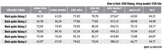 Số liệu thị trường xăng, dầu 6 tháng đầu năm 2019 - Ảnh 2
