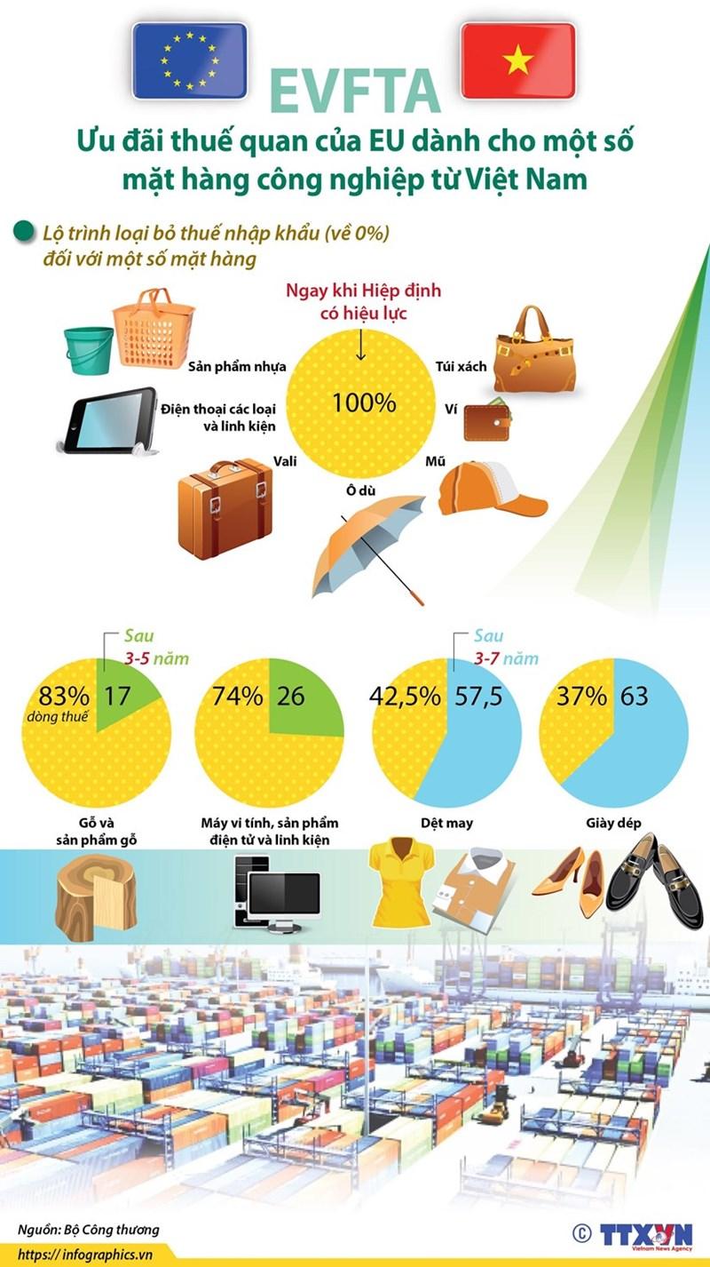 [Infographics] Ưu đãi thuế của EU dành cho hàng công nghiệp Việt Nam - Ảnh 1