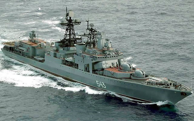 Hệ thống phòng thủ của tàu gồm tên lửa phòng không tầm ngắn 3K95 Kinzhal (tầm bắn 12.000 m, độ cao diệt mục tiêu 10 - 6.000 m); hệ thống pháo - tên lửa Kashtan (tầm bắn 500 - 8.000 m); pháo phòng không cao tốc AK-630.