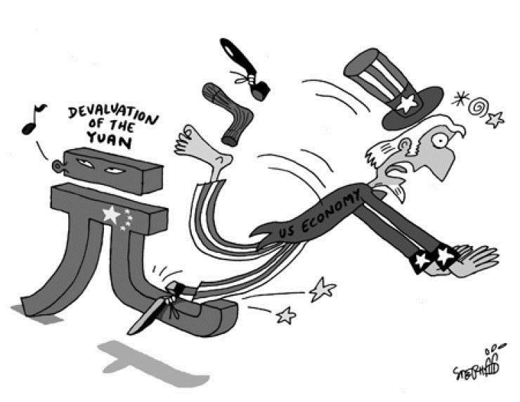 """Trung Quốc đã chần chừ khá lâu và phải """"tung chưởng"""" này ra khi sự lựa chọn đối sách không còn được phong phú như trước nữa. Biếm họa của Korea Times (Hàn Quốc)"""