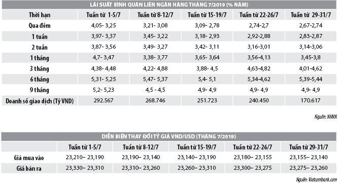 Số liệu thị trường tiền tệ tháng 7/2019 - Ảnh 1