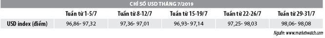 Số liệu thị trường tiền tệ tháng 7/2019 - Ảnh 2